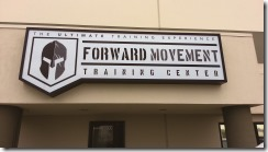 Forward movement sign